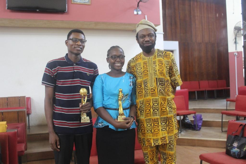 1st position Journal and Research category winners with Dr Osayomi